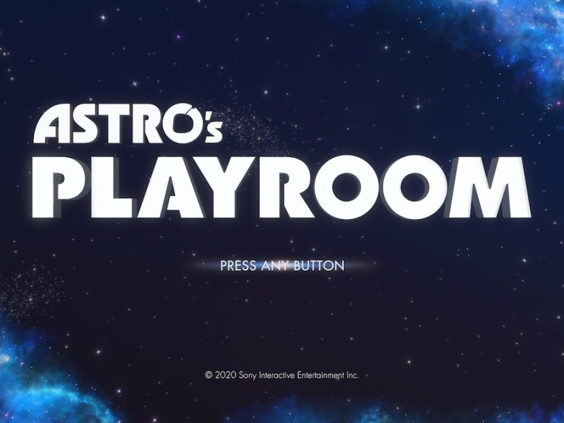 Astro's Playroom title screen
