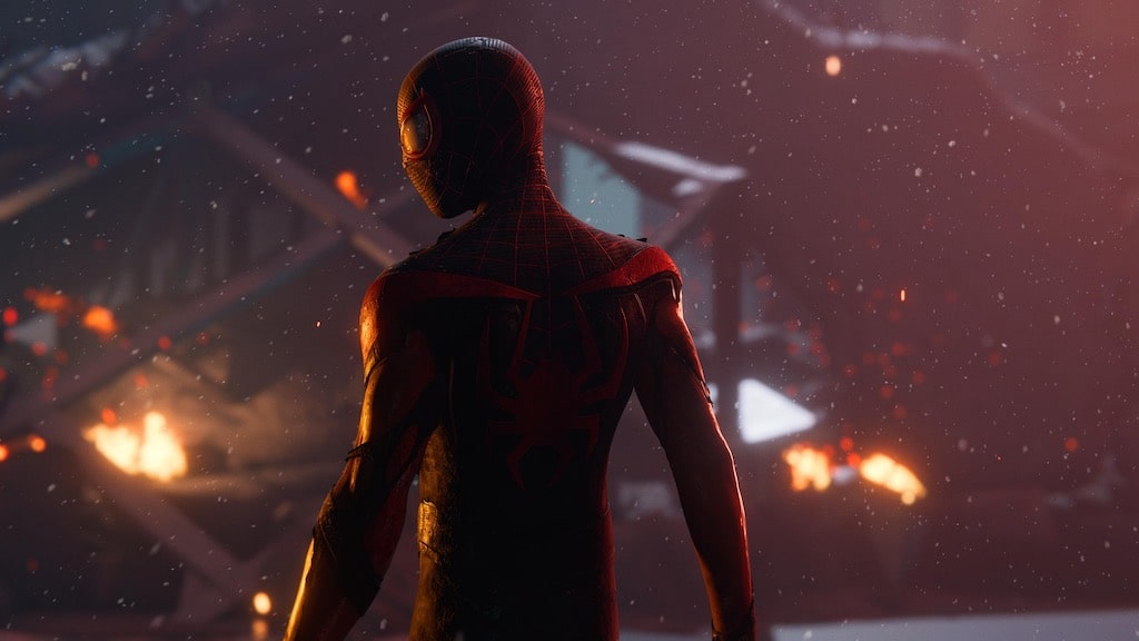Miles Morales with his back turned