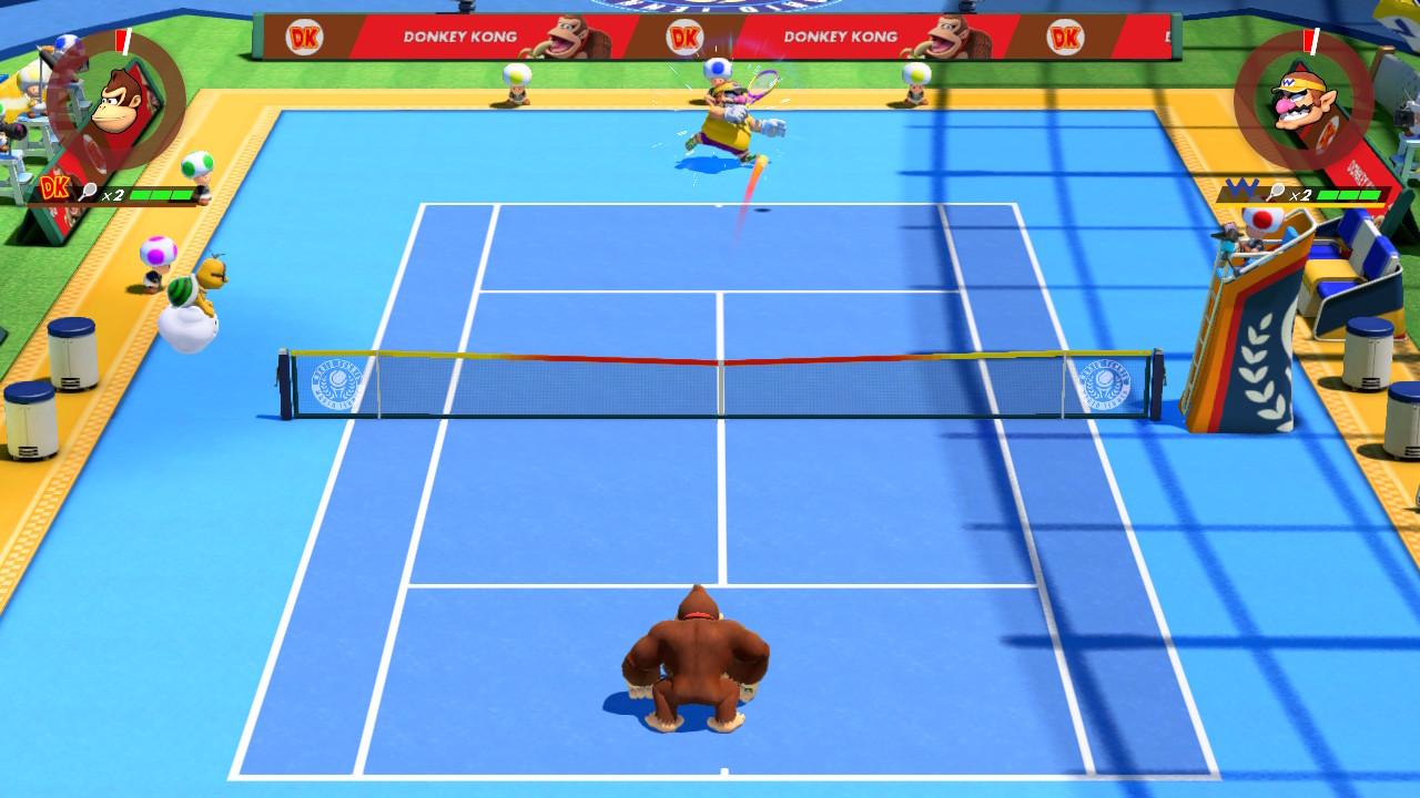 Donkey Kong vs Wario Mario Tennis Aces