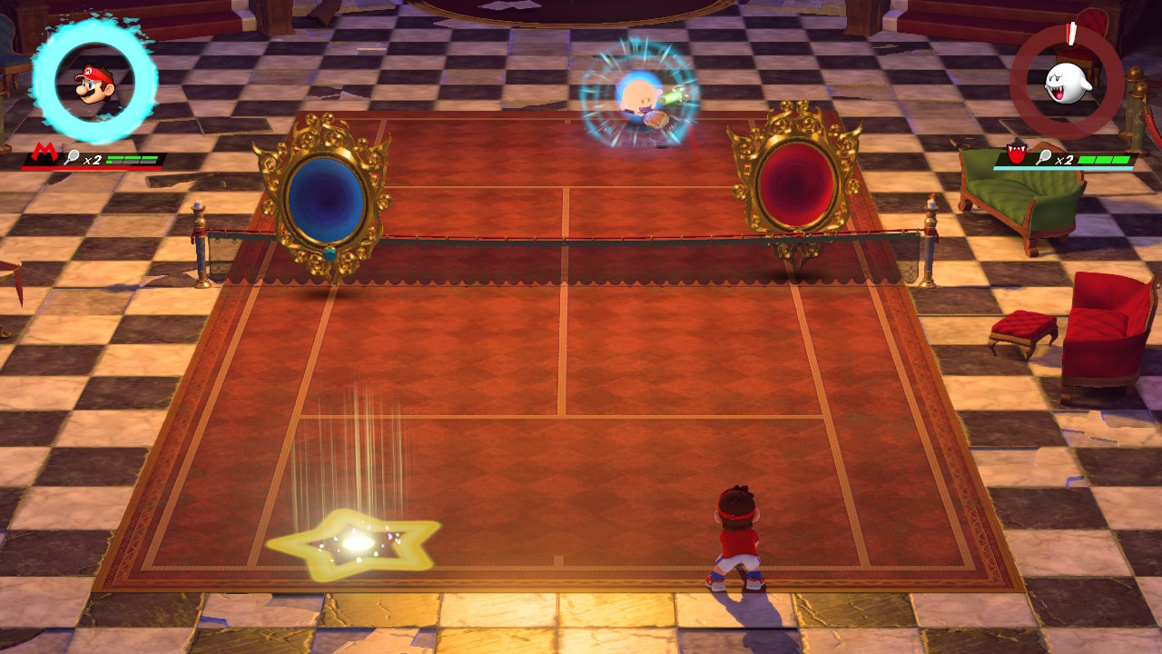 Mario vs Boo in Mirage Mansion