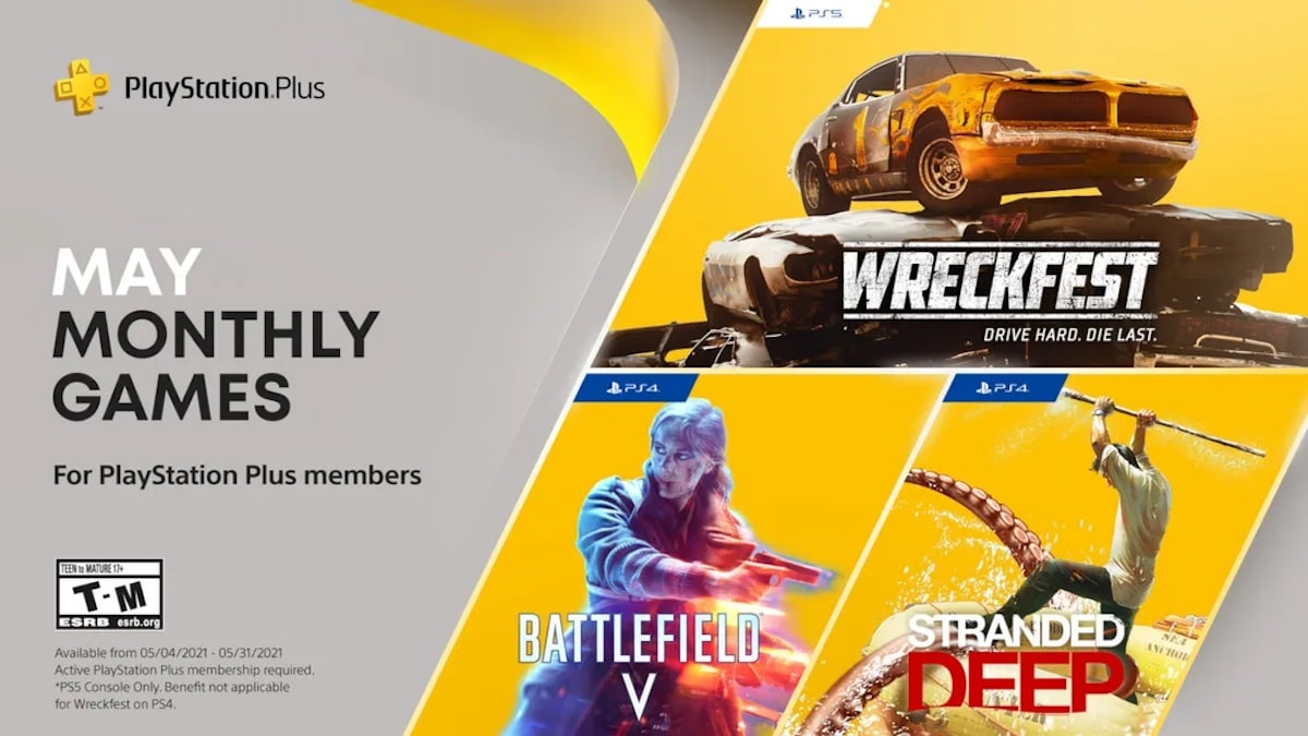 PlayStation Plus May Monthly Games 2021