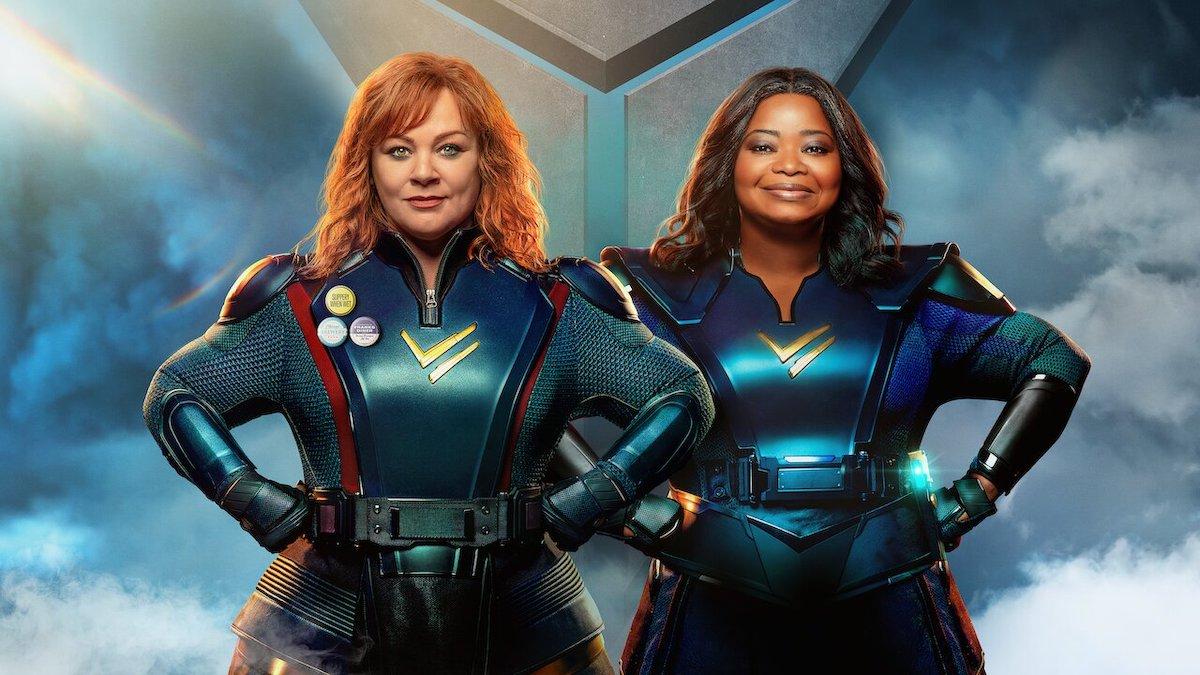 Thunder Force Netflix cover image Melissa McCarthy Octavia Spencer