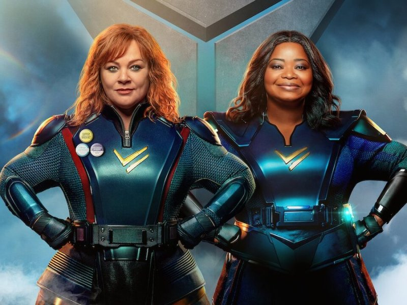 Thunder Force Netflix cover image Melissa McCarthy Octavia Spencer